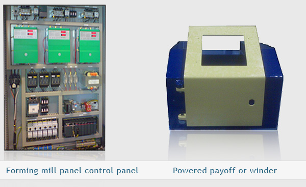 Steel mill control panel  and Powered payoff or winder